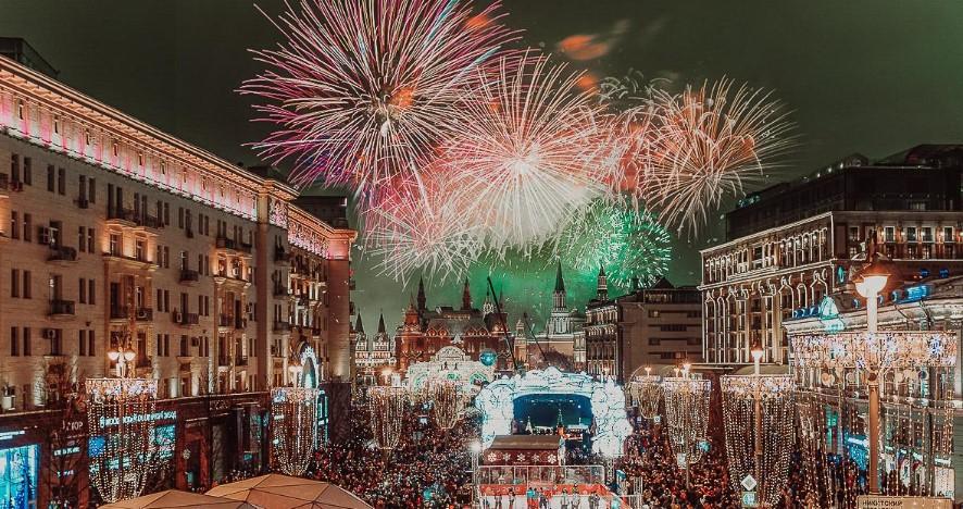 Онлайн-трансляция новогоднего праздника в Москве заинтересовала иностранцев