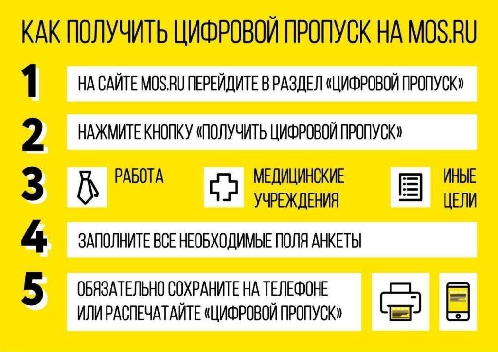 Цифровой пропуск для поездок по Москве можно оформить на mos.ru